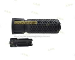 Knight's Armament Airsoft 556 QDC CQB Airsoft Suppressor w/ Quick Detach Function - BK Short